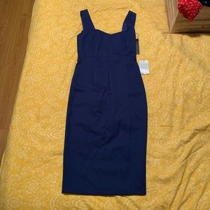 Navy blue pencil dress